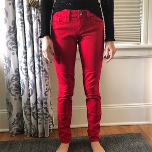 Red guess jeans